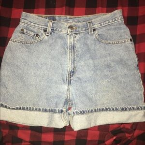 Levi's high waisted mom shorts